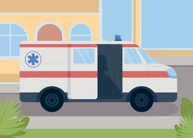 illustration vectorielle de transport médical couleur plate vecteur