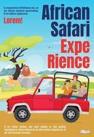 modèle de couverture de magazine d'expérience de safari africain vecteur