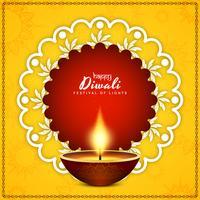 Vecteur de fond abstrait joyeux Diwali