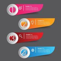 infographie de bannière de modèle de zone de texte moderne vecteur