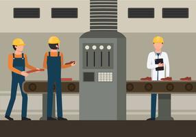 Illustration de travailleurs d'usine vecteur