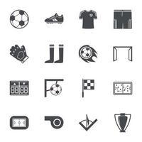 icônes de football signe illustration vectorielle vecteur