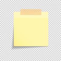 note de papier collant vecteur