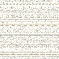 beige blanc abstrait sans couture répéter sans fin motif ovales demi-cercles arcs-en-ciel lignes points cercles et autres formes lignes courbes rugueuses effet d'émulation dessiné à la main vecteur