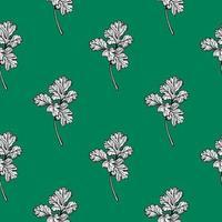 motif de persil. épices aromatiques, herbes saines. illustration vectorielle dessinés à la main vecteur