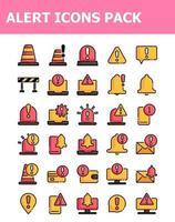 ensemble de 30 packs d'icônes d'avertissement d'alerte vecteur