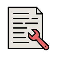 icône des paramètres du document vecteur