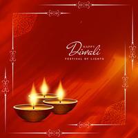 Abstrait joyeux Diwali; vecteur