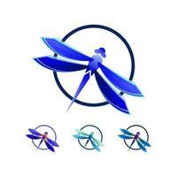 vecteur de logo libellule