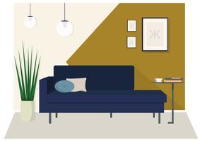 Illustration intérieure moderne de vecteur