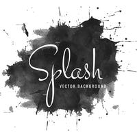 Abstrait splash aquarelle noir vecteur