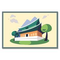 Carte postale de palais de Gyeongbokgung