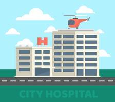 Hôpital de la ville vecteur