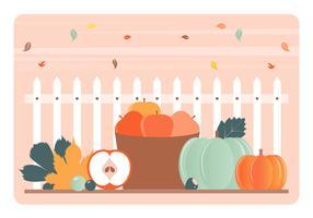 Éléments d'automne vectoriels et Illustration