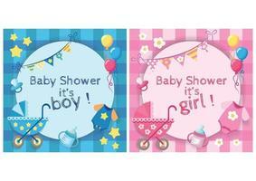 conception de douche de bébé vecteur