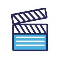 icône de style de ligne et de remplissage du panneau de clapet vecteur