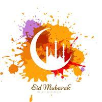 Conception de cartes de ramadan kareem abstrait grunge coloré
