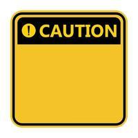 symbole jaune avertissement signe icône point d'exclamation avertissement icône dangereuse sur fond blanc vecteur