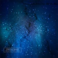 Univers vecteur fond bleu galaxie