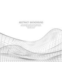 Vecteur d'onde de technologie abstraite gris décoratif