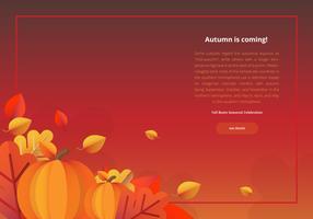 Modèle de bordure colorée pour le festival d'automne vecteur