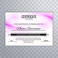 Beau fond coloré de conception de certificat