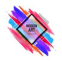 Vecteur de conception aquarelle moderne colroful