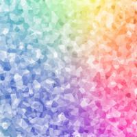 Cristal coloré abstrait polygin vecteur