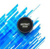 Abstrait lignes bleues vecteur