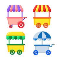 chariot de nourriture de rue vecteur
