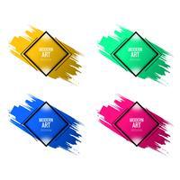 La conception aquarelle colorée de l'art moderne définie vector
