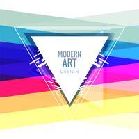 Abstrait coloré clair géométrique vecteur