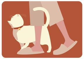 Vecteur de chat paresseux