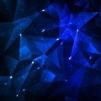 Fond abstrait polygone bleu brillant vecteur