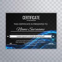 Arrière-plan du modèle de certificat abstrait ondulé
