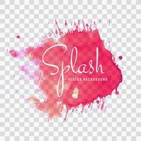 Abstrait aquarelle rose splash vecteur