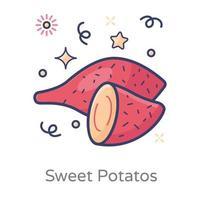 régime patate douce vecteur