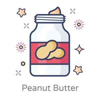 contenant de beurre de cacahuète vecteur