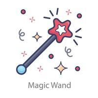 conception de baguette magique vecteur