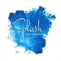 Splash de vecteur de fond aquarelle bleu