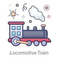 conception de trains de locomotives vecteur