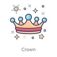 couronne montrant royale vecteur