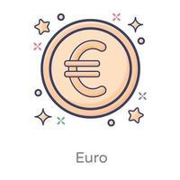 euro monnaie internationale vecteur