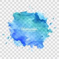 Fond bleu aquarelle splash vecteur