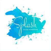 Abstrait bleu aquarelle splash vecteur