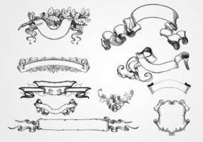 10 vecteurs de bannière gravée vecteur