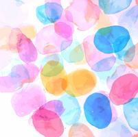 Beau fond de tache aquarelle colorée vecteur