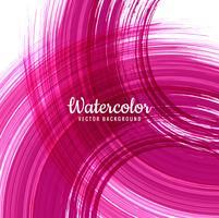 Fond de trait aquarelle rose abstrait vecteur