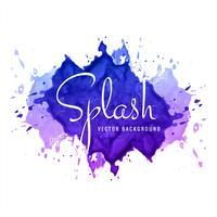 Splash aquarelle coloré abstrait vecteur