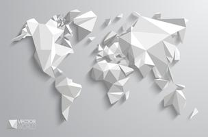 Carte du monde polygonale de vecteur